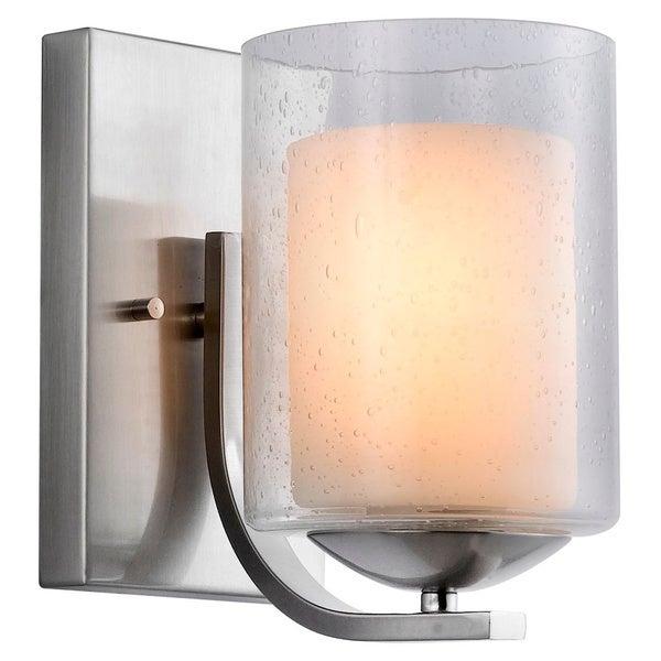 Shop Woodbridge Lighting Cosmo 1 Light Satin Nickel Bath Sconce Free Shipping Today