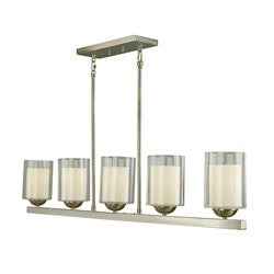 Woodbridge Lighting Cosmo 5-light Satin Nickel Pendant