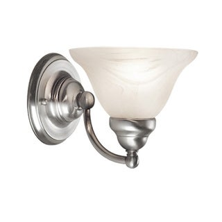 Woodbridge Lighting Anson 1-light Satin Nickel Bath Sconce