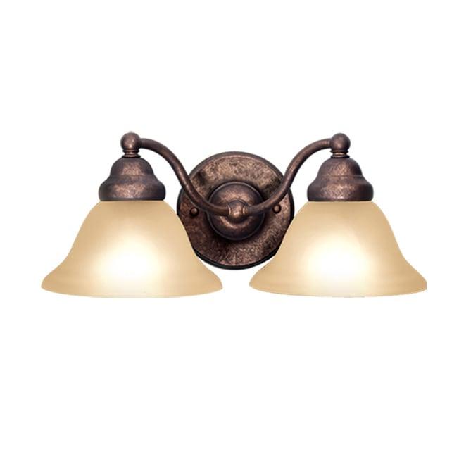 Woodbridge Lighting Anson 2-light Marbled Bronze Bath Sconce