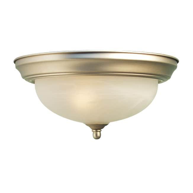 Woodbridge Lighting Anson 3-light Satin Nickel Flush Mount