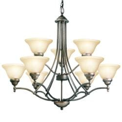 Woodbridge Lighting Anson 9-light Greystone Chandelier