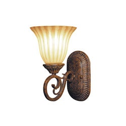 Woodbridge Lighting Avondale 1-light Rustic Iron Bath Sconce - Thumbnail 0