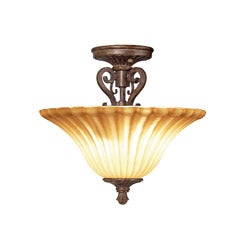 Woodbridge Lighting Avondale 2-light Rustic Iron Semi Flush Mount