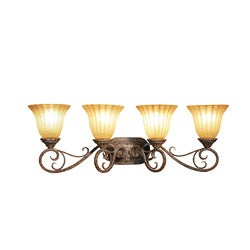 Woodbridge Lighting Avondale 4-light Rustic Iron Bath Bar Light