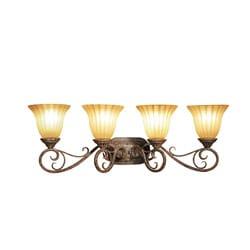 Woodbridge Lighting Avondale 4-light Rustic Iron Bath Bar Light