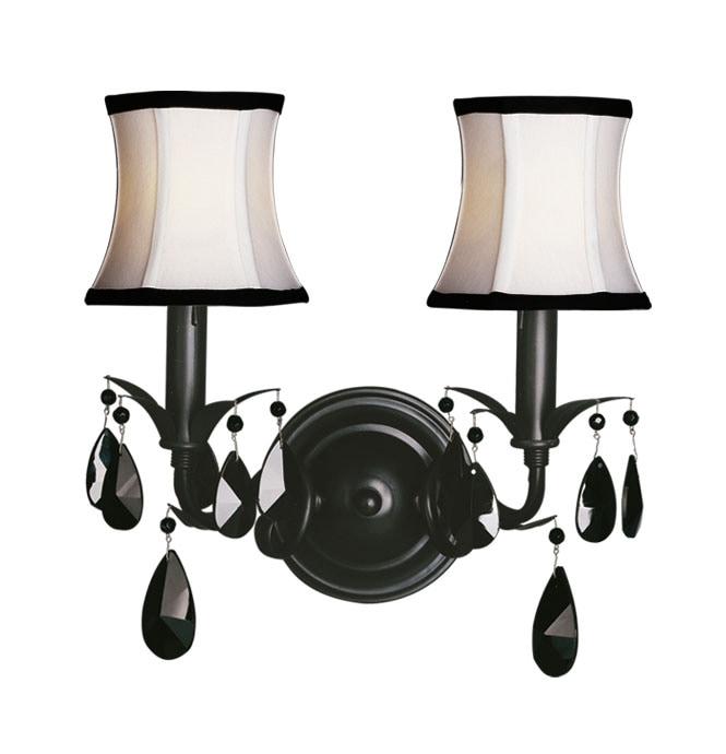 Woodbridge Lighting Avigneau 2-light Black Wall Sconce
