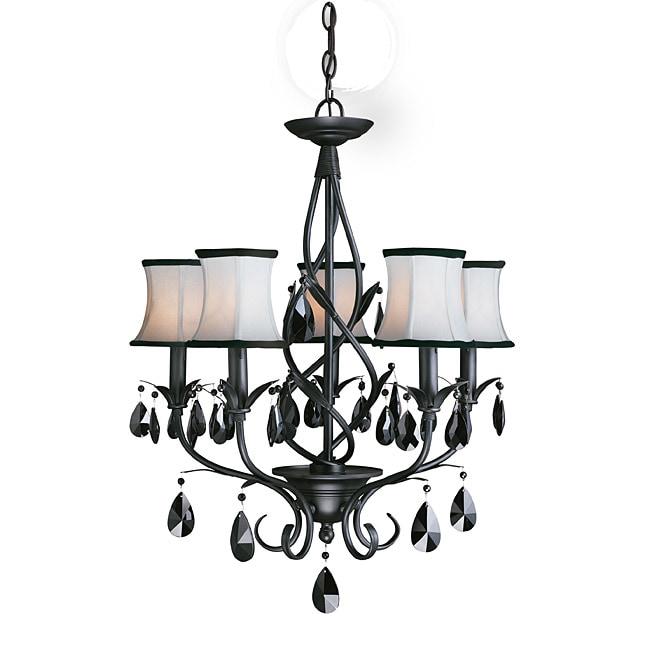 Woodbridge Lighting Avigneau 5-light Black Chandelier