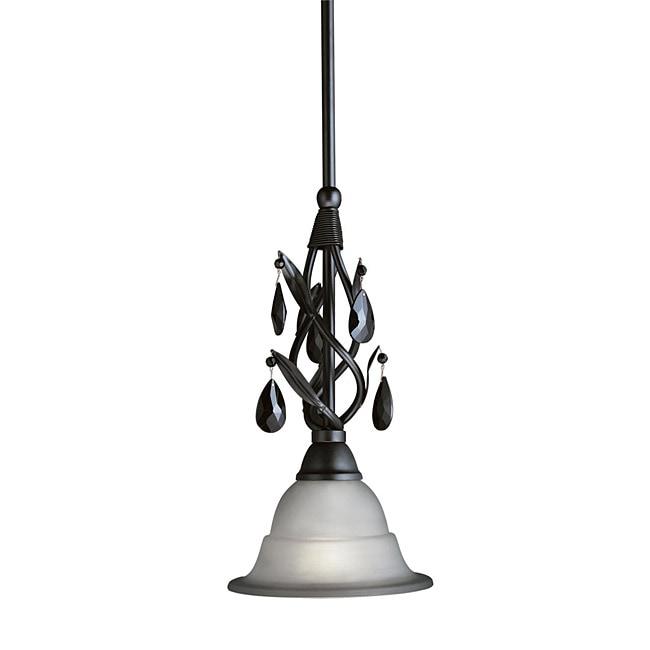 Woodbridge Lighting Avigneau 1-light Black Mini Pendant