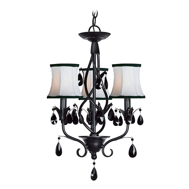 Shop Woodbridge Lighting Avigneau 3-light Black Chandelier