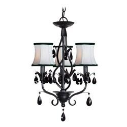 Woodbridge Lighting Avigneau 3-light Black Chandelier