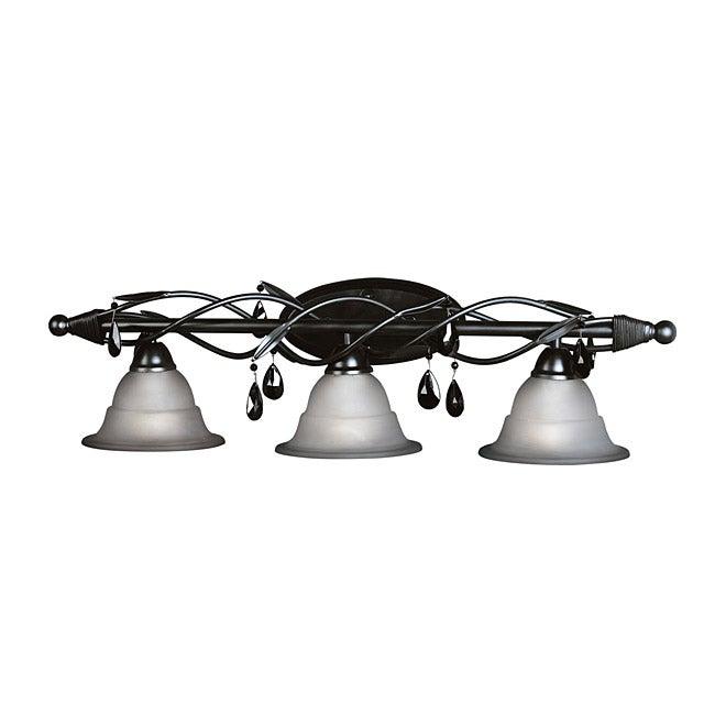 Woodbridge lighting avigneau 3 light black bath bar ebay - Chapter 3 light bar bathroom light ...