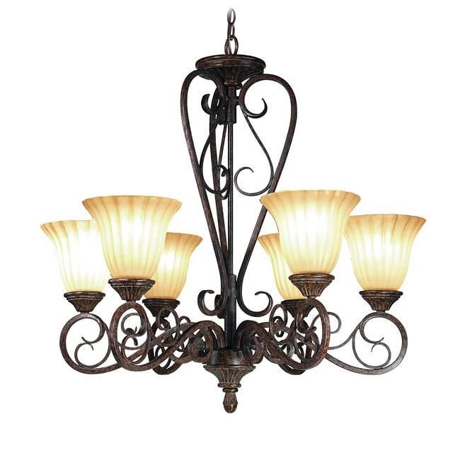 Woodbridge Lighting Avondale 6-light Rustic Iron Chandelier