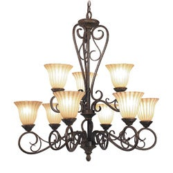 Woodbridge Lighting Avondale 9-light Rustic Iron Chandelier