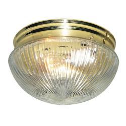 Woodbridge Lighting Basic 1-light Polished Brass Prism Glass Flush Mounts (Pack of 6) - Thumbnail 0