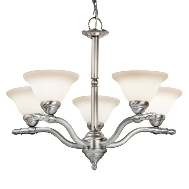 Woodbridge Lighting Cambria 5-light Satin Nickel Chandelier - Thumbnail 0
