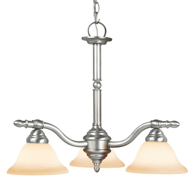 Woodbridge Lighting Cambria 3-light Satin Nickel Chandelier