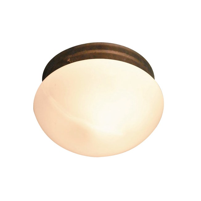 Woodbridge Lighting Basic 2-light Marbled Bronze Mushroom Glass Flush Mount (Pack of 6)