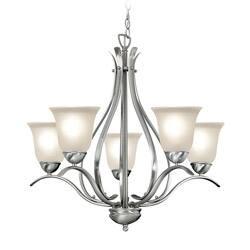 Woodbridge Lighting Beaconsfield 5-light Satin Nickel Chandelier|https://ak1.ostkcdn.com/images/products/6265283/Woodbridge-Lighting-Beaconsfield-5-light-Satin-Nickel-Chandelier-P13902356.jpg?impolicy=medium