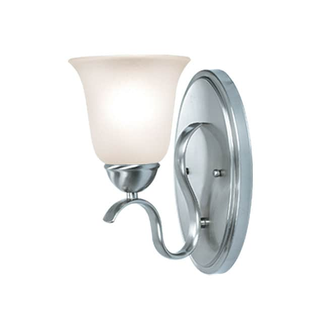 Woodbridge Lighting Beaconsfield 1 Light Satin Nickel Bath Sconce