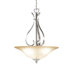Woodbridge Lighting Beaconsfield 3-light Satin Nickel Pendant
