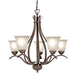 Woodbridge Lighting Beaconsfield 5-light Marbled Bronze Chandelier