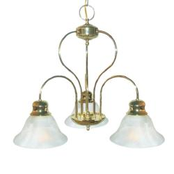Woodbridge Lighting Basic 3-light Polished Brass Chandelier