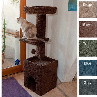 Shop New Cat Condos 4 5 Foot Cat Tower Free Shipping
