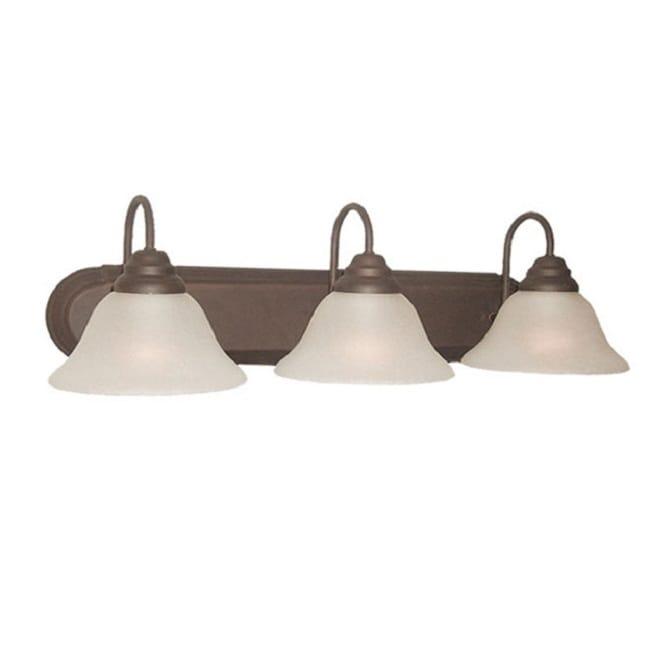 Woodbridge Lighting Basic 3-light Marbled Bronze Bath Bar