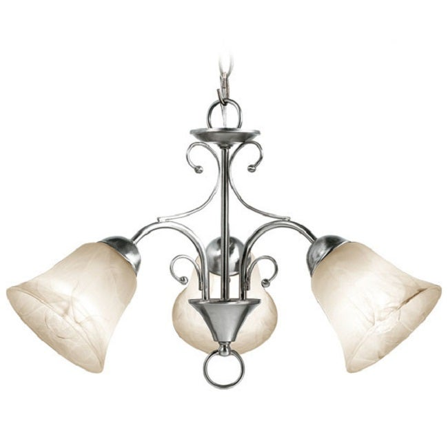 Woodbridge Lighting Ridgemont 3-light Satin Nickel Chandelier