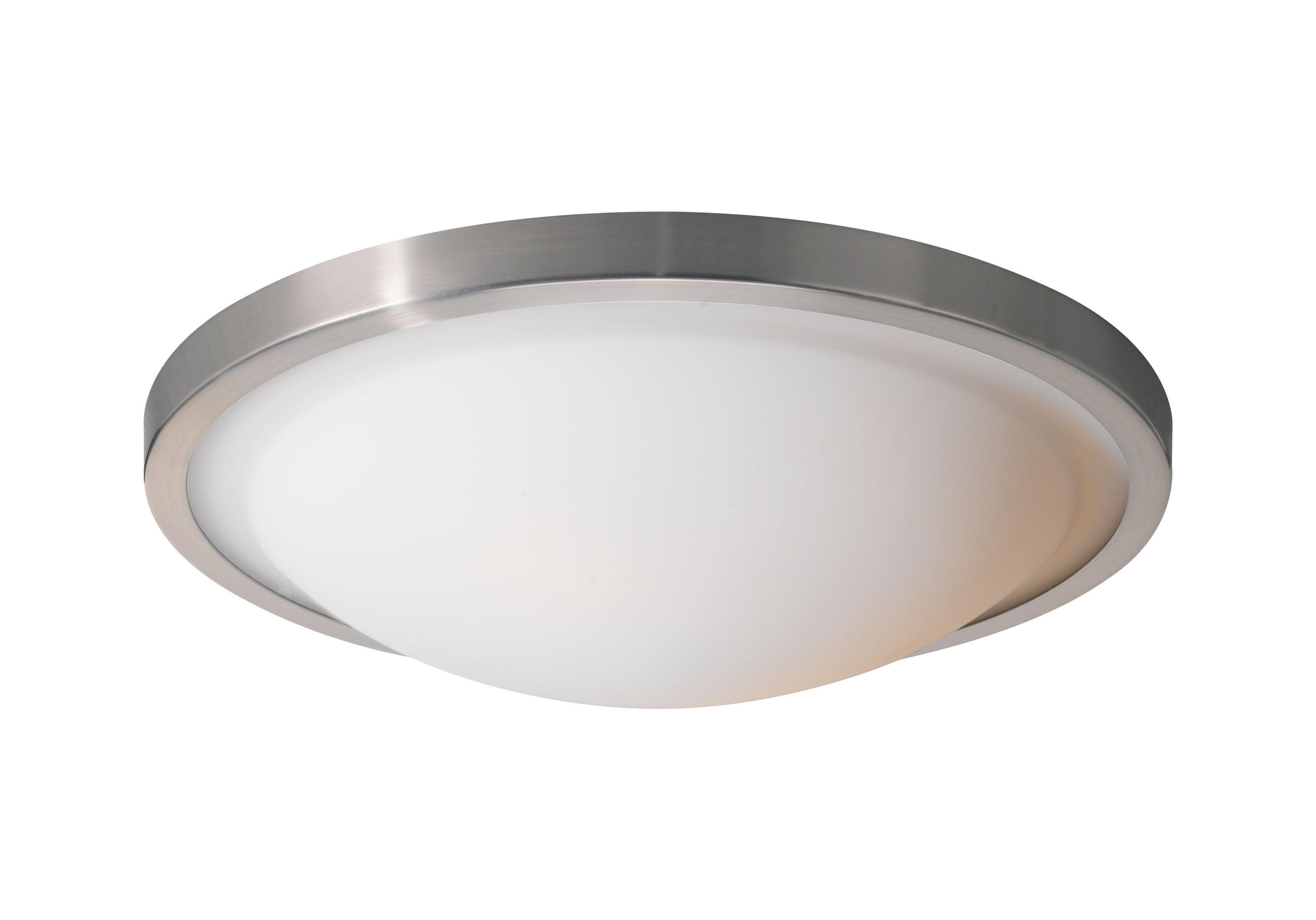 Woodbridge Lighting Energy Saving 2-light Satin Nickel Flush Mount