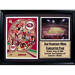 Encore Select 2011 San Francisco 49ers Photo Stat Frame (12x18)