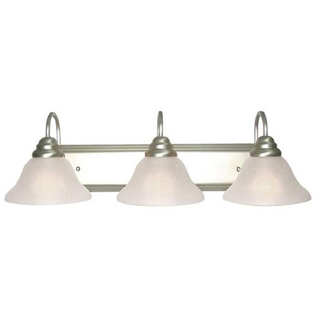 Woodbridge Lighting Basic 3-light Satin Nickel Bath Bar