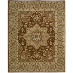 Nourison Hand-tufted Caspian Brown Wool Rug (5' x 8') - 5' x 8' - Thumbnail 0