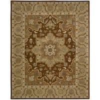 Nourison Hand-tufted Caspian Brown Wool Rug (5' x 8') - 5' x 8'
