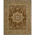 Nourison Hand-tufted Caspian Brown Wool Rug (5' x 8') - 5' x 8'