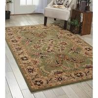 Nourison Hand-tufted Caspian Green Wool Rug - 3'6 x 5'6