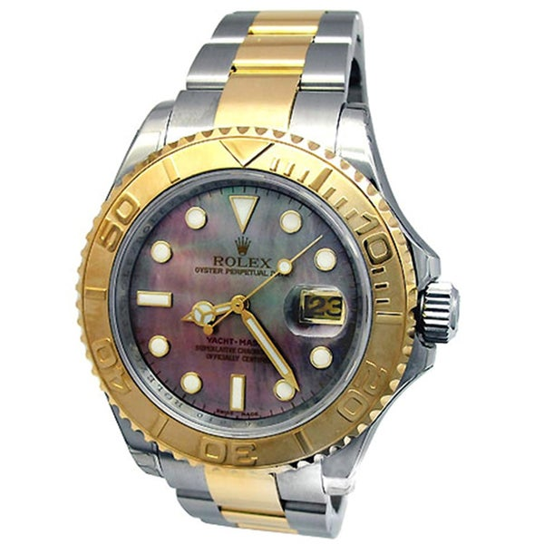 Pre-owned Rolex Men's 18k Gold and Steel Oyster Perpetual Yachtmaster Watch