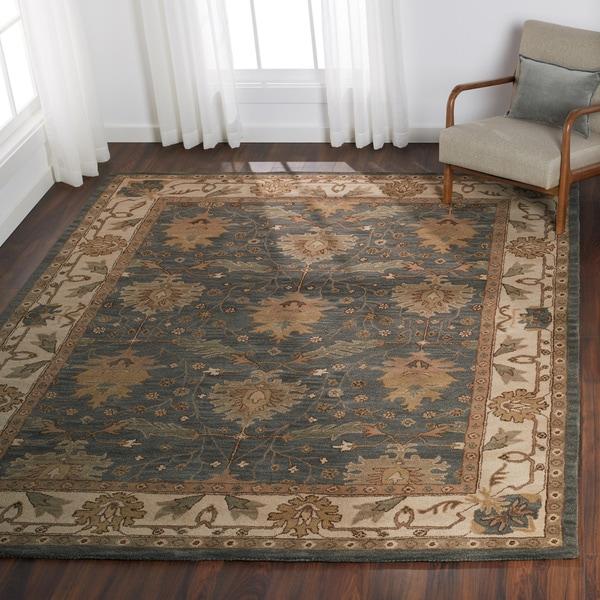 Nourison Hand-tufted Caspian Blue Wool Rug - 5' x 8'
