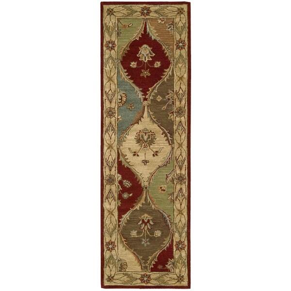 Nourison Hand-Tufted Caspian Multicolor Traidtional Wool Runner Rug (2'3 x 7'6)