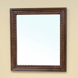 Cresleigh Medium Walnut Bathroom Vanity Mirror