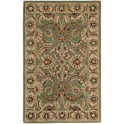 Nourison Hand-tufted Caspian Green Wool Rug (2'6 x 4'0)