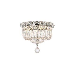 Elegant Lighting Crystal Chandelier Flush Mount Light