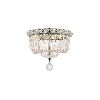 Elegant lighting ceiling lights for less overstock elegant lighting crystal chandelier flush mount light aloadofball Image collections