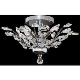 Somette Crystal 4-light Chrome Chandelier Flush Mount