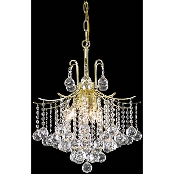 Somette Crystal 6-light Gold Chandelier