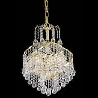 Somette Crystal 3-light Gold Chandelier