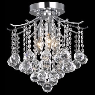 Somette Crystal 3-light Chrome Chandelier