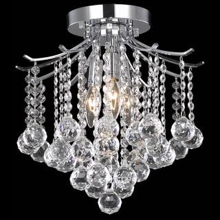 Somette Crystal 3-light Chrome Chandelier