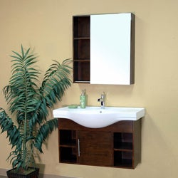 Gladwin Medium Walnut Single Bathroom Vanity